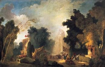 'La fete a St Cloud' ('A Celebration in St Cloud), c1775-1780. Artist: Jean-Honore Fragonard