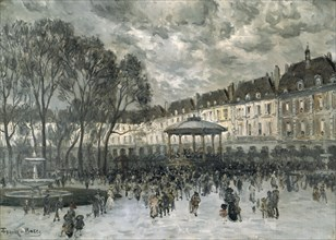 'Place des Vosges, Paris, day of a Concert', late 19th/early 20th century. Artist: Frank Myers Boggs