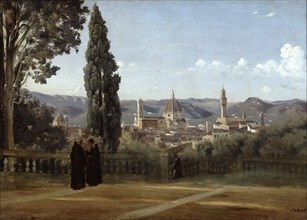 'Florence, View from the Boboli Gardens', 1835-1840. Artist: Jean-Baptiste-Camille Corot