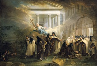 'The arrival of the Carmelite nuns from Brussels', mid 18th century. Artist: Charles Guillot