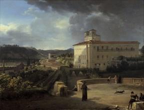 'View of the Villa Medicis', Rome, 1815. Artist: Nicolas Antoine Taunay
