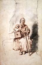 'Savoyarde', c1715. Artist: Jean-Antoine Watteau