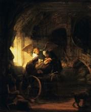 'Tobias Returns Sight to His Father', 1636. Artist: Rembrandt Harmensz van Rijn