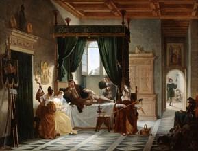 'The Convalescence of Bayard', c1796-1842. Artist: Pierre Henri Revoil