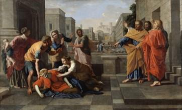 'The Death of Sapphira', 1652. Artist: Nicolas Poussin