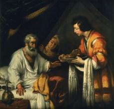 'Isaac blesses Jacob', early 17th century. Artist: Bernardo Strozzi