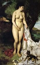 'Bather' ('La Baigneuse au griffon'), 1870. Artist: Pierre-Auguste Renoir