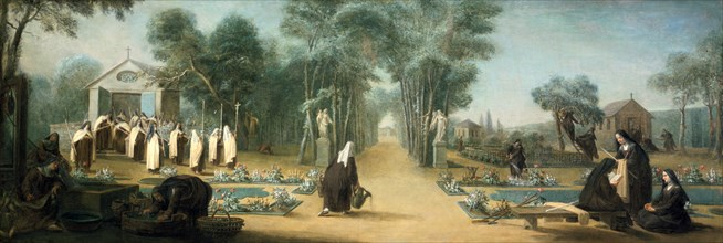 'The Carmelite Nuns in the Garden', 18th century.  Artist: Charles Guillot