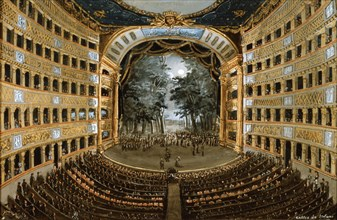 View of the interior of the Teatro San Carlo, Naples, 19th century. Artist: Unknown