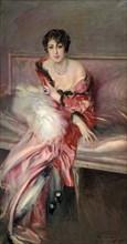 'Madame Juillard' In Red, 1912. Artist: Giovanni Boldini