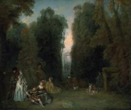 'View through the trees in the Park of Pierre Crozat', 1715. Artist: Jean-Antoine Watteau
