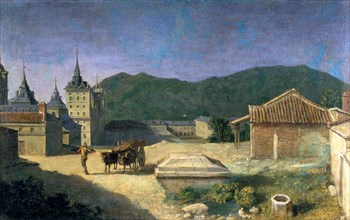 'View of the Escorial', Spain, early 18th century. Artist: Michel-Ange Houasse