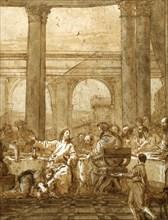 'Feast in the House of Simon', 18th/early 19th century. Artist: Giovanni Domenico Tiepolo