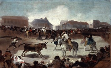 'A Village Bullfight', c1812-1814. Artist: Francisco Goya