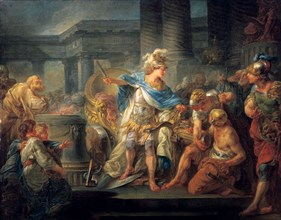 'Alexander Cuts the Gordian Knot', late 18th/early 19th century. Artist: Jean Simon Berthelemy