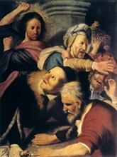 'Christ Drives the Money-Changers from the Temple', 1626. Artist: Rembrandt Harmensz van Rijn