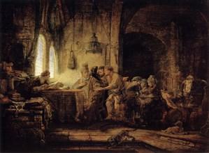 'The Parable of the Labourers in the Vineyard', 1637. Artist: Rembrandt Harmensz van Rijn