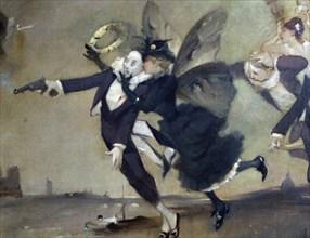 'Parce Domine', detail, c1884.  Artist: Léon Adolphe Willette