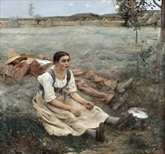 'The Haymakers', 1880. Artist: Jules Bastien-Lepage