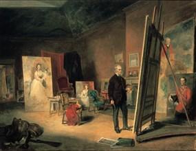 'Portrait of Sir Francis Grant in his Studio', 1866. Artist: John Ballantyne