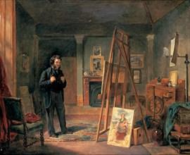 'Portrait of Thomas Faed in his Studio', 19th century. Artist: John Ballantyne