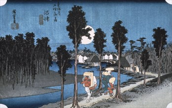 'Moon at Numazu', from 53 stations of Tokaido, 1832.  Artist: Ando Hiroshige