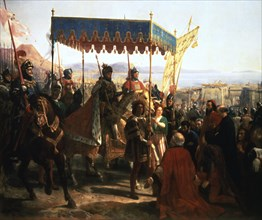 'Entrance of Charles VIII into Naples, 12th May 1495' (19th century). Artist: Anon