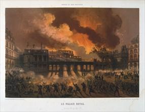 'Le Palais Royal', Paris Commune, 24 May 1871. Artist: Anon