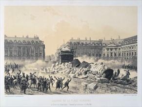 'Colonne de la Place Vendome', Paris Commune, 16 May 1871.  Artist: Anon
