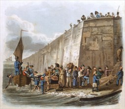 'Arrival at Calais', 1816. Artist: Unknown