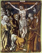 'Christ on the Cross', 16th century. Artist: Anon