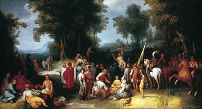 'The Preaching of Saint John the Baptist', 1602. Artist: Cornelis Cornelisz van Haarlem