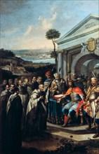 Bela III founding the Cistercian monastery at Szentgotthard in 1183 (1795-1796). Artist: Istvan Dorfmeister