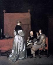 'Paternal Admonition', 1654-1655. Artist: Gerard Terborch II