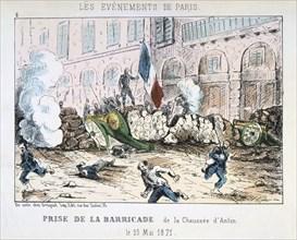 Paris Commune, 1871. Artist: Anon