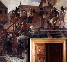 Execution of Jean Desmartes, 1383 (19th/early 20th century). Artist: Jean-Paul Laurens
