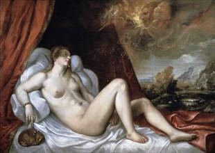 'Danae', 16th century. Artist: Titian