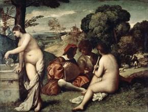 'Concert champetre', ('The Pastoral Concert'), c1510-1511. Artist: Titian