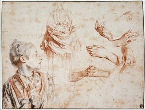'Study', 1716-1718. Artist: Jean-Antoine Watteau
