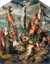 'Calvary', late 16th century. Artist: Pieter Piertsz the Elder