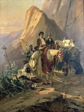 'Memories of the trip from Paris to Cadiz - Alexandre Dumas (Pere) in Spain', 1830. Artist: Pierre Francois Eugene Giraud