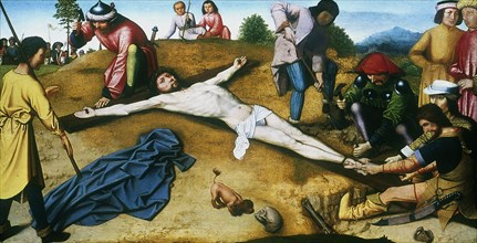 'Christ Nailed to the Cross', c1481.  Artist: Gerard David