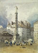 Napoleon's Column, Place du Chatelet, Paris, 19th century. Artist: Anon