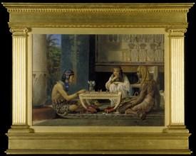 'Egyptian Chess Players', 1865. Artist: Sir Lawrence Alma-Tadema