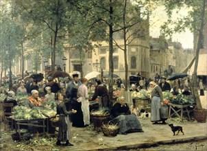 'Le Carreau des Halles', Paris, 1880. Artist: Gilbert Victor Gabriel
