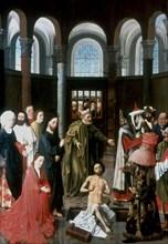 'The Raising of Lazarus', mid 15th century. Artist: Albert van Ouwater