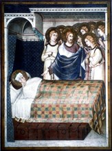 'St Martin's Dream', 14th century.  Artist: Simone Martini