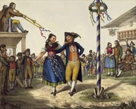 Popular festivities, mid 19th century. Artist: Anon