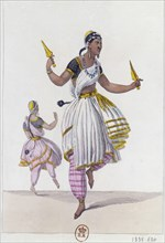 Les Bayaderes, 1838. Artist: Anon