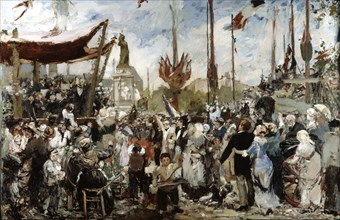 'The 14th of July 1880', late19th/early 20th century.  Artist: Alfred Roll